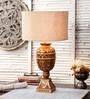 M K Lighting Brown Wood Lamp Base