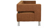 Magnet Three Seater Sofa in Brown Colour by Kurl-On