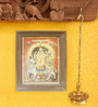 Madhurya Multicolour Gold Plated Shiva & Parvati on Nandi Framed Tanjore Painting