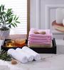 Magna Multicolour Cotton 11 x 12 Face Towel - Set of 10