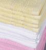 Magna Multicolour Cotton 11 x 12 Face Towel - Set of 15
