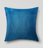 Mapa Home Care Blue & Pink Duppioni 16 x 16 Inch Woven Stripes Cushion Cover