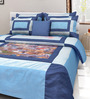Mapa Home Care Blue Duppioni 5-piece Digital Quilt Set