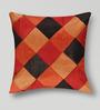 Mapa Home Care Multicolor Duppioni 16 x 16 Inch Geometric Patchwork Cushion Cover