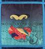 Mapa Home Care Multicolor Duppioni 16 x 16 Inch Mustache Printed Cushion Cover