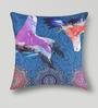 Mapa Home Care Multicolor Duppioni 16 x 16 Inch Pigeons Cushion Cover