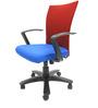 Marina Office Ergonomic Chair in Dark Blue Colour by Chromecraft
