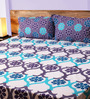 Mark Home Floral Motifs Multicolour Cotton Abstract Bed Sheet (with Pillow Covers) - Set of 3