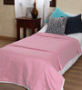 Mark Home Pink Cotton Solid 90 x 54 Inch Single Bed Dohar