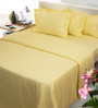 Mark Home Yellow Solids Cotton Queen Size Bedding - Set of 6