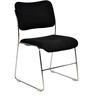 Maurya Armless Chair in Black Colour by Chromecraft