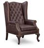 Mayors Wing Chair in Leather By Studio Ochre