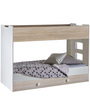 McAspen Bunk Bed in Pearl White & Acacia Finish by Mollycoddle