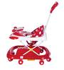 Baby Walker with Parents Push Handle in Red Colour by Mee Mee