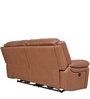 Mercedes Half Leather Two Electric Recliner in Brown Colour by HomeTown