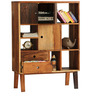 Kevon Book Shelf with Reclaimed Wood in Natural Finish by Bohemiana