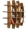 Colville Display Unit in Natural Sheesham Finish by Woodsworth