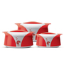 Milton Imperial Sr Red Plastic Casseroles - Set of 3