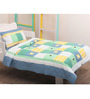 Mint Summer patchwork Toddler Quilt Set in Multicolour by Raw Kottage