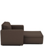 Morris One Seater Sofa Lounge in Coffee Colour by ARRA