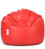 Mudda Chair Filled with Beansin Red Colour by Can