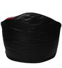 Muddha XXXL Sofa Bean Bag with Beans in Black and Red Colour by Sattva