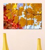 Multiple Frames Printed Yellow Leaves  Art Panels like Painting - 5 Frames