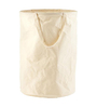 My Gift Booth Canvas 20 L Cream Laundry Hamper