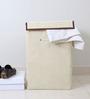 My Gift Booth Non-Woven 20 L Cream Laundry Hamper