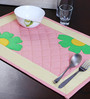 My Gift Booth Flower Pink & White Canvas Table Mat - Set of 6