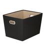 My Gift Booth Nylon Black Storage Basket