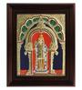 Myangadi Multicolour Gold Plated Alangaram Plywood & Cloth Framed Tanjore Painting