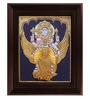 Myangadi Multicolour Gold Plated Vishnu Karudan Framed Tanjore Painting
