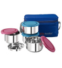 Nano 9 Midday Stainless Steel Lunch Box - Set of 4
