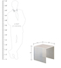 Nested Tables in White Colour by Indecrafts