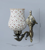 Upasri Downward Wall Mounted in Antique Gold by Mudramark