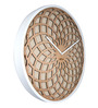 Nextime Brown Wooden 13.7 x 1 Inch Sun Round Wall Clock