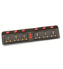 Novel Black 15.9 x 5.8 x 1.8 Inch 6+6 Surge Protector Power Strips Extension