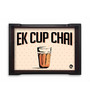 Nutcase Ek Cup Chai Multicolour Pinewood Serving Tray