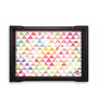 Nutcase Watercolour Triangles Multicolour Pinewood Serving Tray