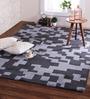Obeetee Blue Wool 84 x 60 Inch Aariv Carpet