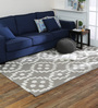 Obeetee Brown Wool 60 x 96 Inch Geo with Viscose Carpet