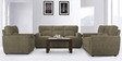 Octo Sofa Set (3 + 2 + 1) Seater in Brown Colour by Vive