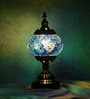 Prasuta Table Lamp in Blue by Mudramark