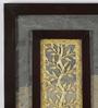 Olha-O Multicolour Metal & MDF Amalgamated Dhokra & Natural Stone Wall Hanging