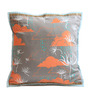Olie Rain Dance Multicolour Cotton Hand Made Cushion Cover