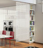 Omarion Room Divider in White by Bohemiana