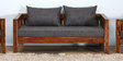 Orting Two Seater Sofa in Provincial Teak Finish by Woodsworth