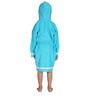 Organic Kids Hooded Bathrobe in Aqua Color by Mummas Touch