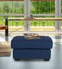 Oritz Ottoman in Teal Blue Colour by CasaCraft